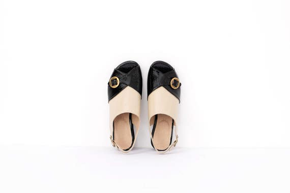 and Sandals Handmade Wide sandals Beige Women's Leather designers Heeled Black Sale Slingback patent sandals On Leather UYI1qwOO