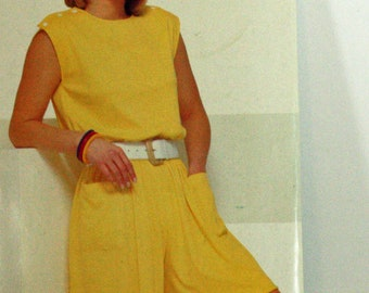 UNCUT, Vintage, 1980s, Sewing Pattern, Sew & Sew 5945, By Butterick, Butterick 5945, Jumpsuit, Misses' Size 6, 8 and 10, OLD2NEWMEMORIES