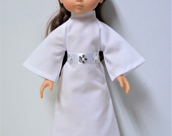 "Handmade Doll Clothes Star Wars Princess Leia Costume fits 13"" Corolle Les Cheries Dolls"