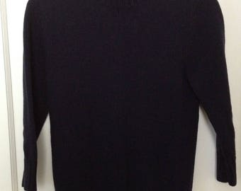 Cotton Blue Sweater with Side Shoulder Buttons
