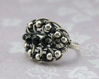 Love's Embrace Coiled Wire Mother's Ring - Instant Download Wire Jewelry Tutorial Instruction PDF