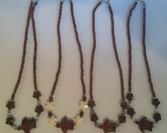Koa honu necklace