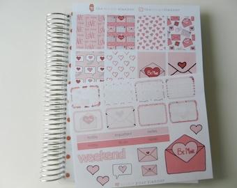 Be My Love - set of 30 stickers perfect for Erin Condren Life Planner, Kikki K or Filofax Planner