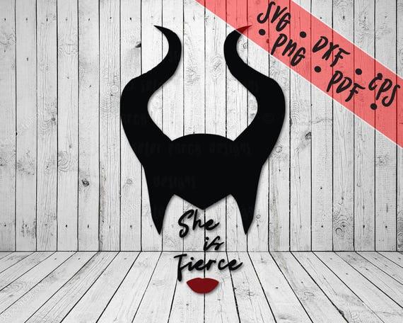 Disney She Is Fierce Maleficent Svg Png Pdf Eps
