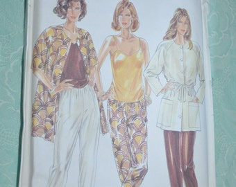 New Look 6047 MIsses Jacket Top and Pants Sewing Pattern - UNCUT - Size 6 - 16 - Camisole Top, Tapered Pants, Raglan Sleeve Jacket