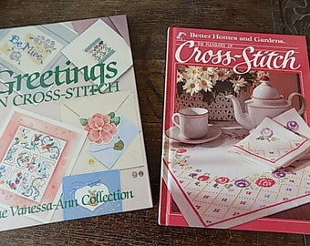 Vintage Cross Stitch Book - BHG Cross Stitch - Greeting Card Book