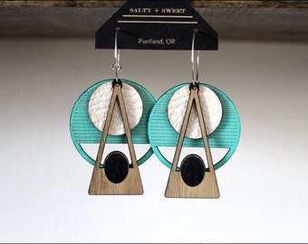 Laser cut earring | DECO: Turquoise