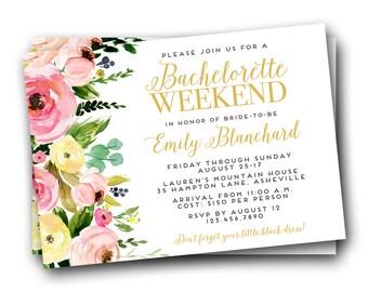 Bachelorette Weekend Invitation, Bachelorette Party Invitation, Bachelorette Weekend Invitations, Bachelorette Party Invites