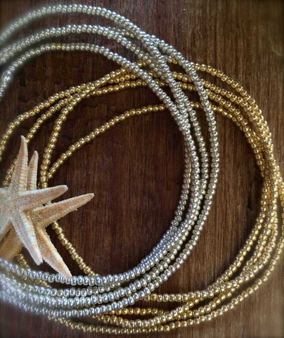 Waist Beads Belly Chain Adjust Stretch Body Jewelry Boho Hawaii Bikini Hip Bridal Beach Wedding Beaded Silver Gold Sexy Harness Layer Gift