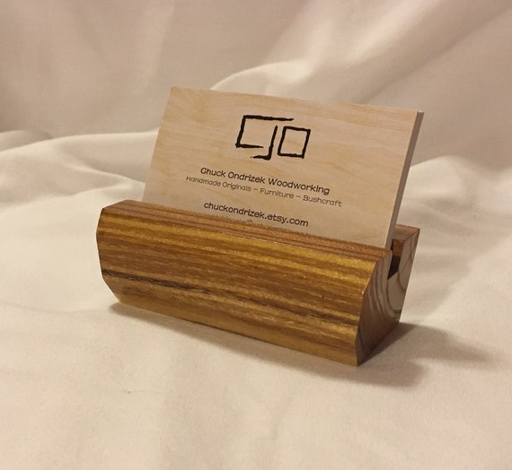 Beautiful mulberry wood business card holder reheart Gallery