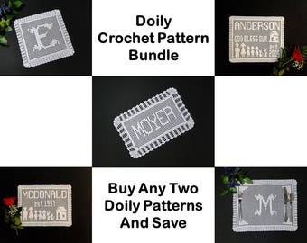 Crochet Pattern - Crochet Patterns - Doily Crochet Pattern Bundle - Name Doily Crochet Pattern - Personalized Doily Crochet Pattern