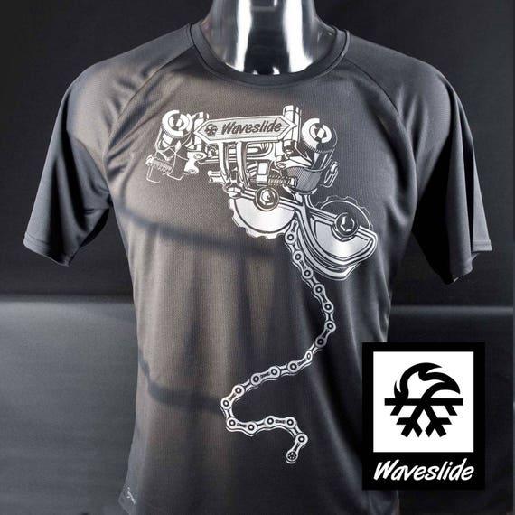 Function-Sport-T-shirt race circuit mountainbike MTB Bike by Waveslide QWEiodcJN