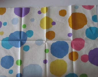 Fabric with colorful spots - size 29.5 cm x 42 cm