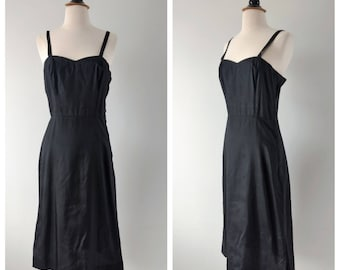 Vintage 1940s black slip dress size small