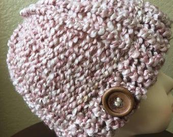 Girls Beanie.Girl fashion hat ..winter hat.Size 1-3 years old ,very soft yarn