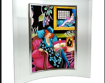 Print, Art Print, Wall art, Home Decor, Art Deco print, Small Print, Framed Print, Glass Picture  Frame,