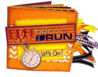 Running Scrapbook - Born to Run Sports Scrapbook - Running Photo Album -  Runner - Running - Marathon Scrapbook - Runner Gift - Athlete Gift
