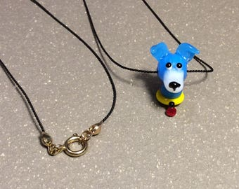 Dog necklace, dog head pendant, unique necklace