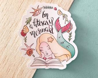 Literary mermaid STICKER