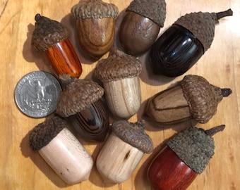 Handmade wood acorns- decoration/Christmas/fall