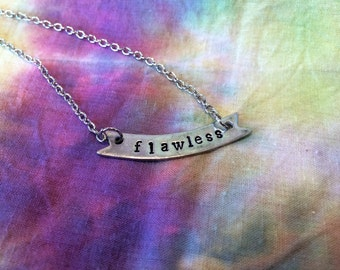 Flawless Necklace - #Flawless Necklace - Feminist Necklace - Feminist Jewelry