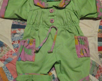 Cabbage Patch Kid Clothing/Outfit Hasbro Green Full Romper