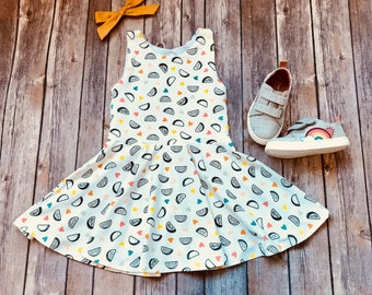 Taco Dress - Food Dress - Baby Dress - Toddler Dress - Little Girls Dress - Twirl Dress - Toddler Twirl Dress - Play Dress - Baby Taco Dress