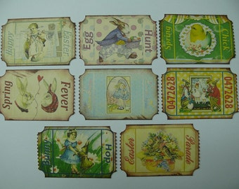 Altered Vintage Easter Tags...Milestones and Memories
