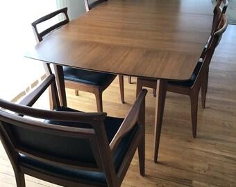 Vintage Mid Century Dining Table and Chairs John Stuart Janus