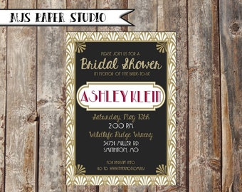 1920s Bridal Shower Invitations