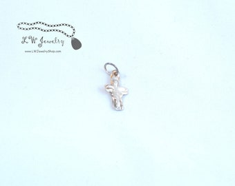 Handmade cross, religious, small cross, Silver, Fine Silver, Cross, pendant, handmade jewelry,  silver jewelry, handmade pendant, , gift