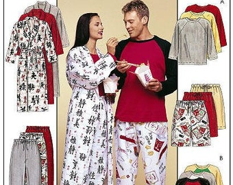 McCall's - Paper Sewing Pattern - Pajamas & Robes Size  Y - Sm-Med-Lg
