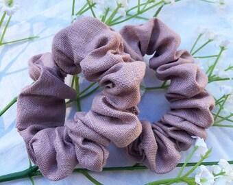 Wild Rose Linen Scrunchie