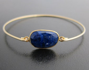 Lapis Lazuli Bracelet, Lapis Lazuli Jewelry, Blue Lapis Bracelet for Women, Blue Lapis Jewelry, Blue Gemstone Bracelet Bangle Stone Bracelet