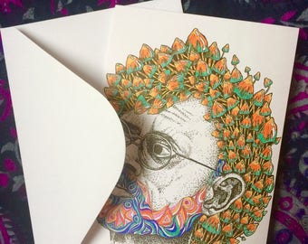 Terence McKenna Greetings Card