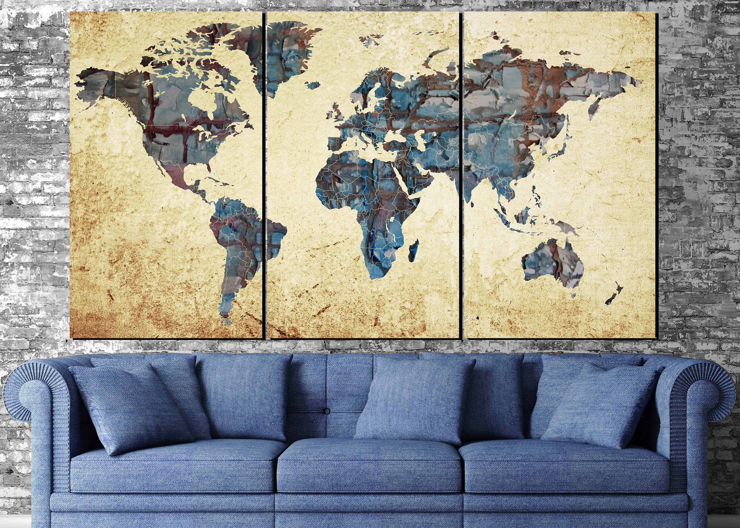 Large world mapworld map abstract map wall art world map painting large world mapworld map abstract map wall art world map paintingworld map printmap postermap canvaspush pinhand madedecorative art gumiabroncs Image collections