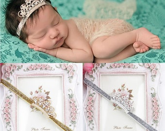 Gorgeous Glitter Baby Headbands - Great for Birthdays and Cake Smash!
