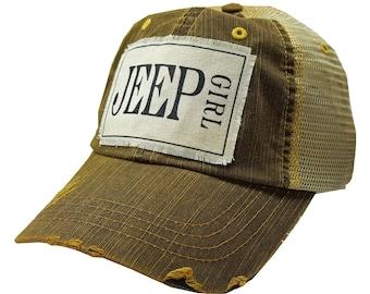 "Womens Baseball Hat, Womens Baseball Caps, Womens hats, Womens Caps, Trucker Cap, ""Jeep Girl"" Trucker Hat, Ladies Trucker Hat, Hats Cute Hat"