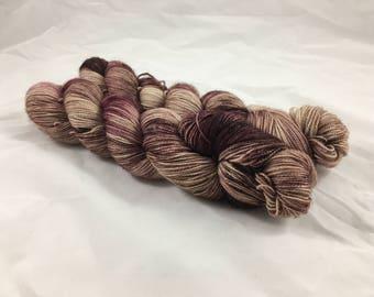 Fierce BFL sock yarn - Chocolate Mauve