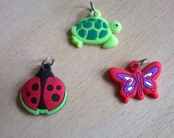 SET WITH 3 CHARMS NEW ANIMALS