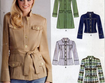 Semi-fitted jackets in different lengths, New Look 6617