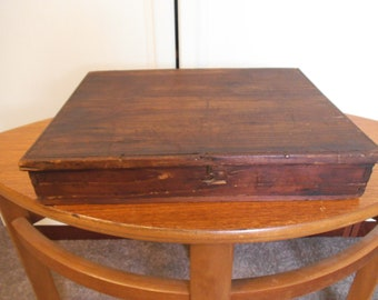 Vintage Wooden Box - Simply Made - Rustic - c. 1920's