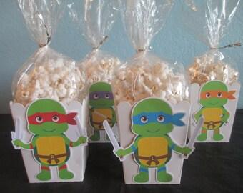 Ninja Turtle Popcorn boxes(20)Ninja Turtle Favor Boxes,Ninja Turtle Decoration,Ninja Turtle Party,Ninja Turtle 1 st Birthday