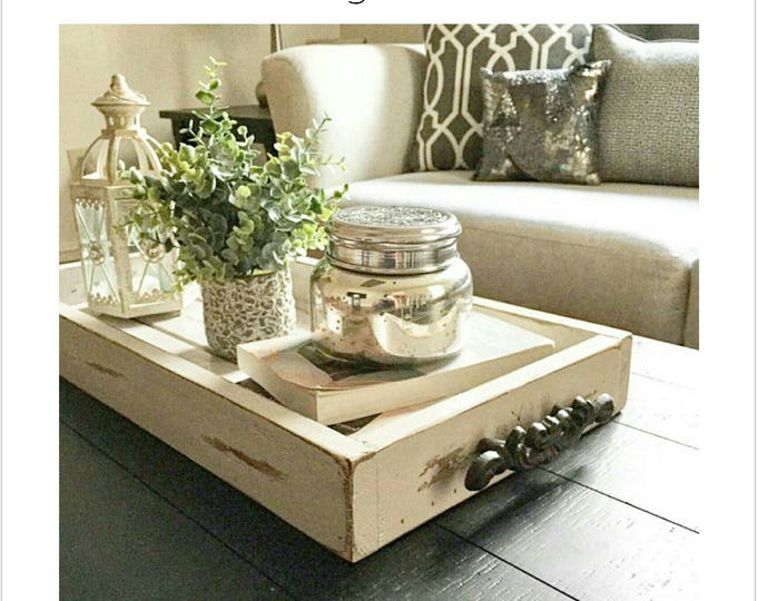 Magazine Tray - Coffee Table Tray - Rustic wooden ottoman tray - decorative tray - coffee table tray - farmhouse decor - wooden tray