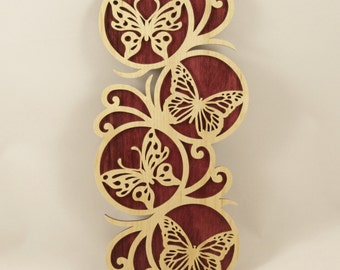 Butterfly Wall Plaque - Purple Heart