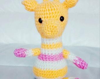 Amigurumi Giraffe Baby Toy,  Stuffed Giraffe Toy