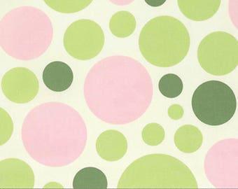 Half Yard - Free Spirit Fabrics - Nicey Jane - Dream Dot Celery by Heather Bailey