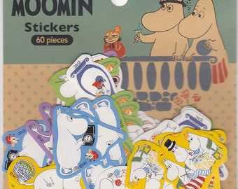 Moomin Flake Stickers - 60 pieces - 6 designs - Reference A2187