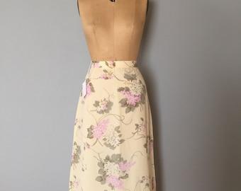 flower blossom skirt | lilac print maxi skirt | milk white organza