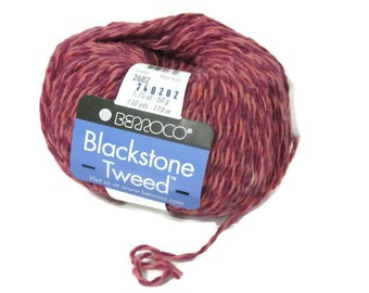 New Berroco Blackstone Tweed Wool Blend Yarn/1 Ball/Wild Rose/ 2682